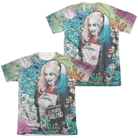Suicide Squad Harley Psychedelic Cartoon (FB Print) Sublimation T-Shirt