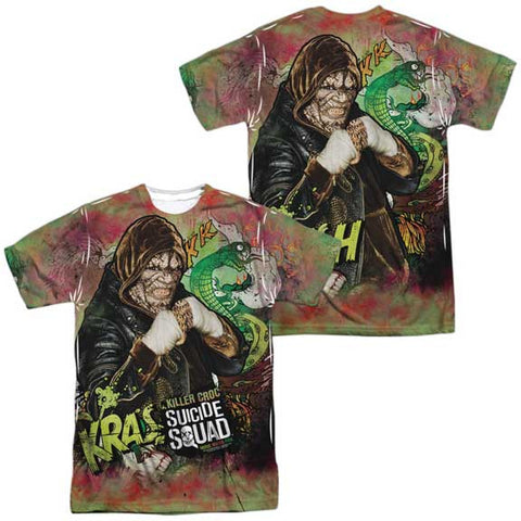 Suicide Squad Killer Croc Psychedelic 100% Polyester Sublimated Front & Back