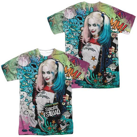 Suicide Squad Harley Quinn Psychedelic FRONT/BACK PRINT