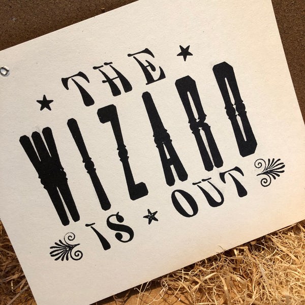 Wizard is In/Out Sign