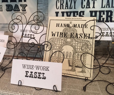Hand Sculpted Wire-Work Easels