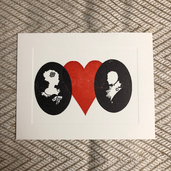 Whimsical Letterpress Valentine Cards