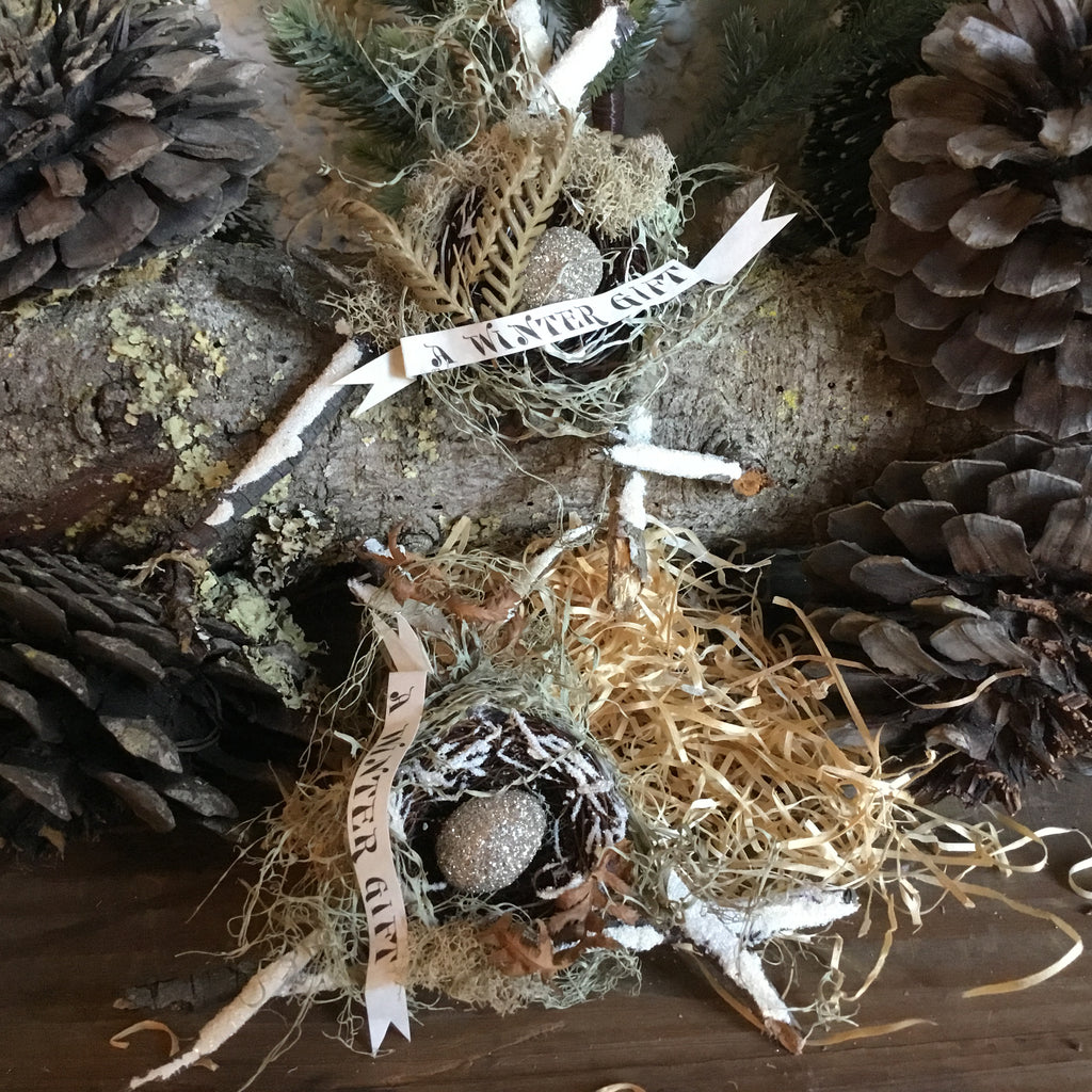 Bird Nest for Christmas Tree