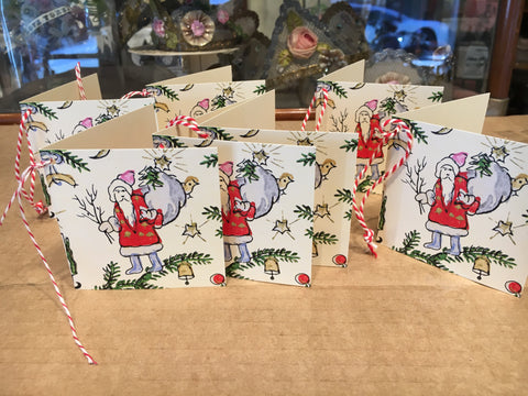 Mini Christmas Card Tags