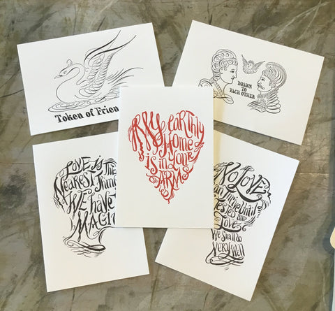 Letterpress Calligraphy Cards