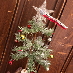 Tabletop Decorated Natural Goose Feather Tree