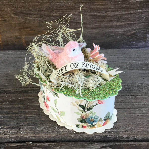 Bird in Spring Nest Gift Box