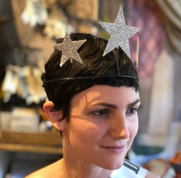 Glittered Star Crown