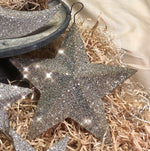 Load image into Gallery viewer, Dimensional Silver Glitter Stars and Moon