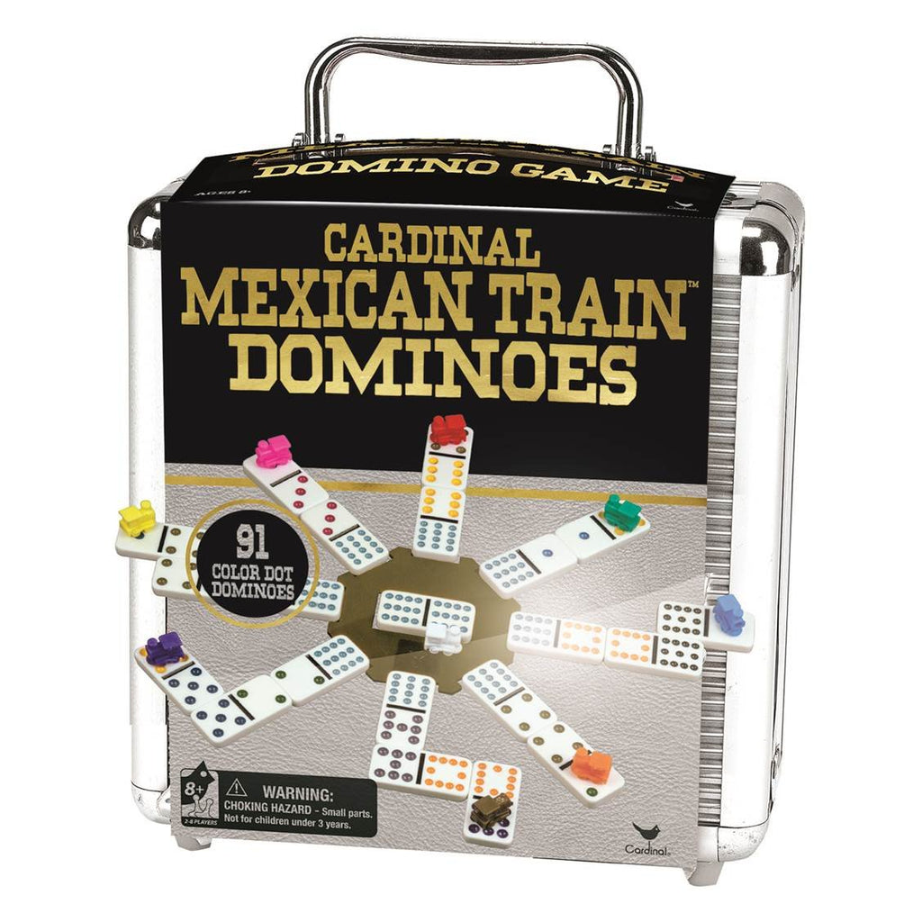 Cardinal Games Mexican Train in Aluminum Case