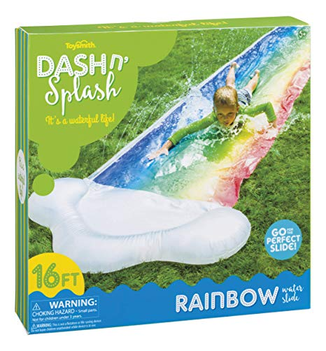 Toysmith Dash N Splash Rainbow Water Slide