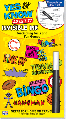 Invisible Ink Book - Yes & Know Series