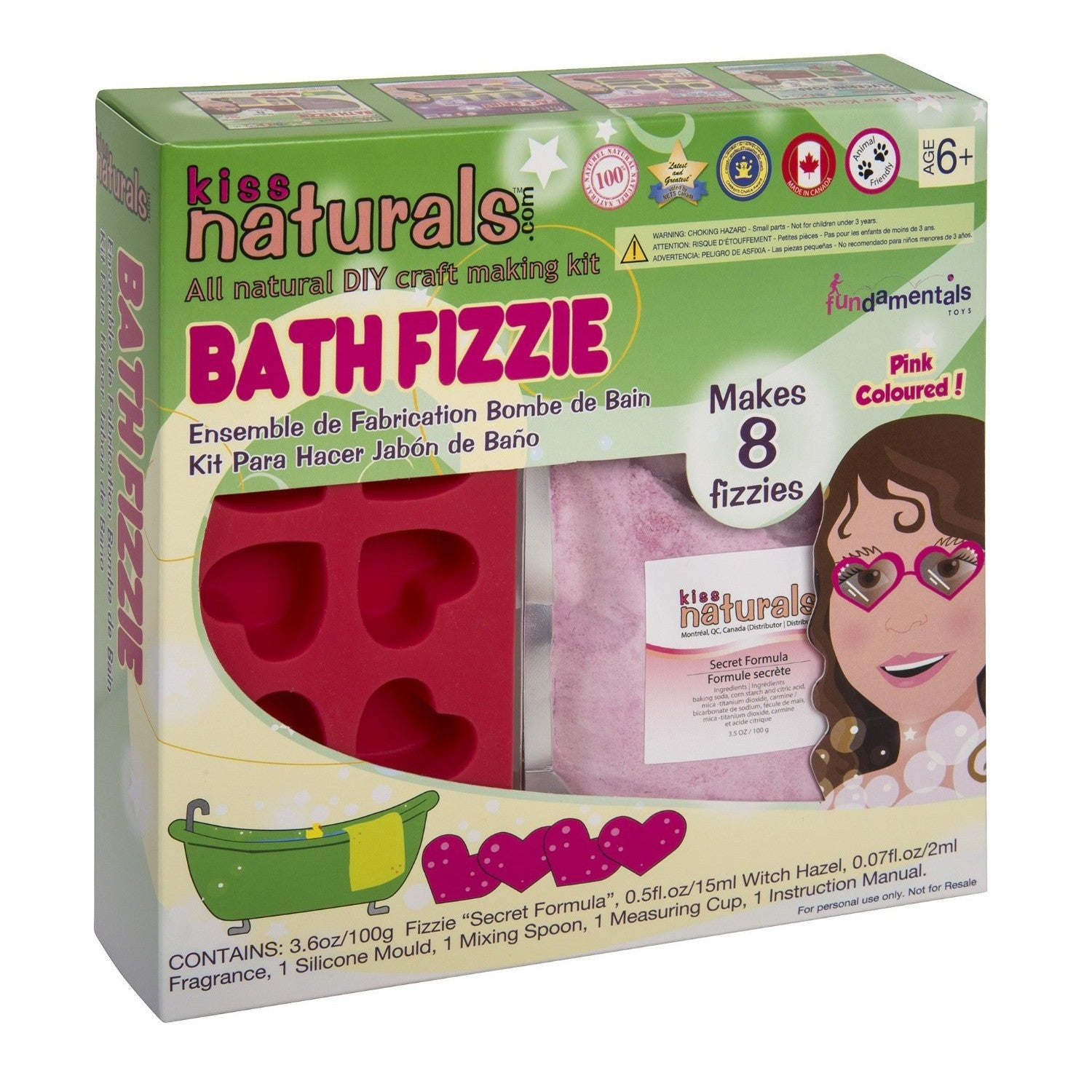 Kiss Naturals Bath Fizzie Craft Making Kit - Toybox Toy Jungle
