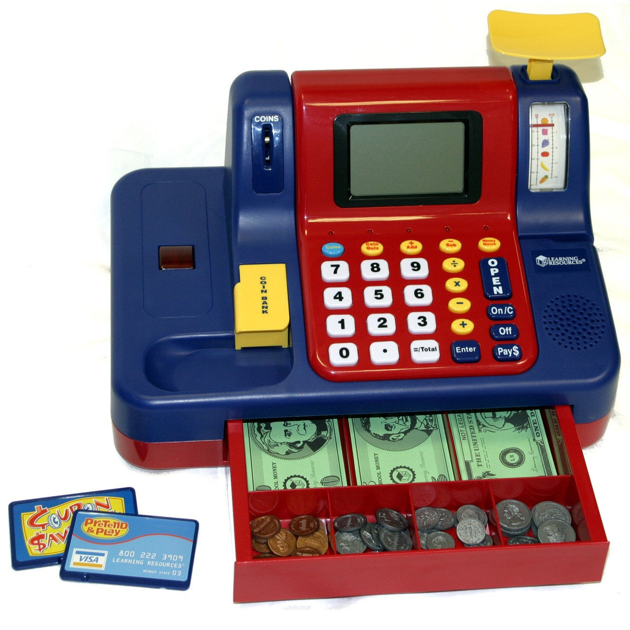 Pretend & Play Canadian Teaching Cash Register - Toybox Toy Jungle