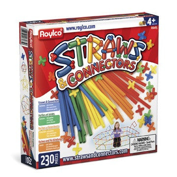 Straws & Connectors 230 Piece Set - Toybox Toy Jungle