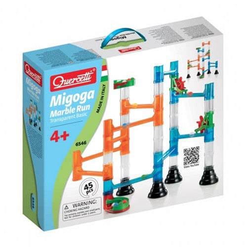 Quercetti Migoga Marble Run Transparent Basic