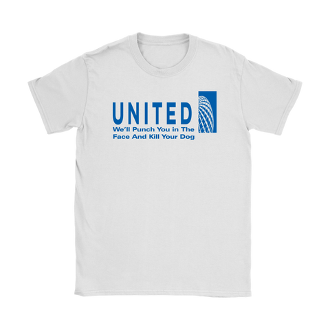 United Airlines Women's T-Shirt,Women's T-Shirts, Alliteration Apparel Clothing and Accessories