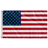 United States of America Cannabis Leaf Wall Flag,Flags, Alliteration Apparel Clothing and Accessories