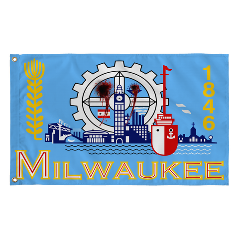 Milwaukee Flag Shot,Flags, Alliteration Apparel Clothing and Accessories