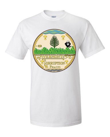 $tate Seal of Vermont Men's Unisex Short sleeve t-shirt,Men's / Unisex T-Shirts, Alliteration Apparel Clothing and Accessories