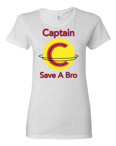 Captain Save A Bro Women's short sleeve t-shirt,Women's T-Shirts, Alliteration Apparel Clothing and Accessories