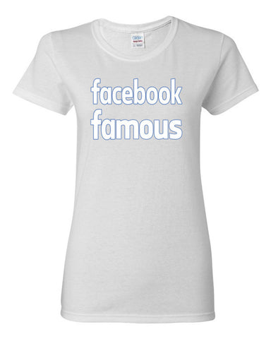 Facebook Famous Women's short sleeve t-shirt,Women's T-Shirts, Alliteration Apparel Clothing and Accessories