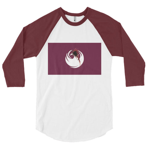 Phoenix Flag Shot Unisex 3/4 sleeve raglan shirt,3/4 Sleeve, Alliteration Apparel Clothing and Accessories