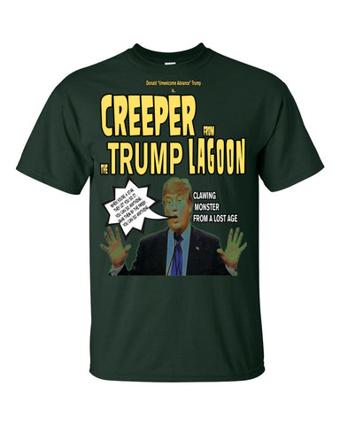 "Donald ""Unwelcome Advance"" Trump The Creeper From the Trump Lagoon Men's / Unisex T-shirt,Men's / Unisex T-Shirts, Alliteration Apparel Clothing and Accessories"