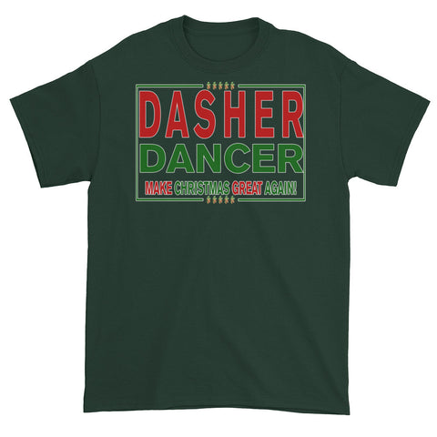 Dasher Dancer Make Christmas Great Again! Men's / Unisex T-shirt,Men's / Unisex T-Shirts, Alliteration Apparel Clothing and Accessories