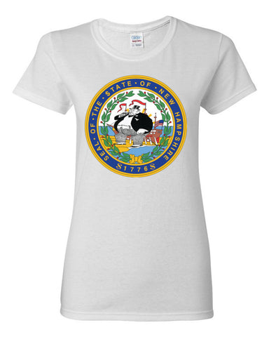 $tate Seal of New Hampshire Women's short sleeve t-shirt,Women's T-Shirts, Alliteration Apparel Clothing and Accessories