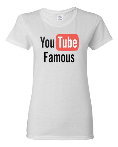 YouTube Famous Women's short sleeve t-shirt,Women's T-Shirts, Alliteration Apparel Clothing and Accessories