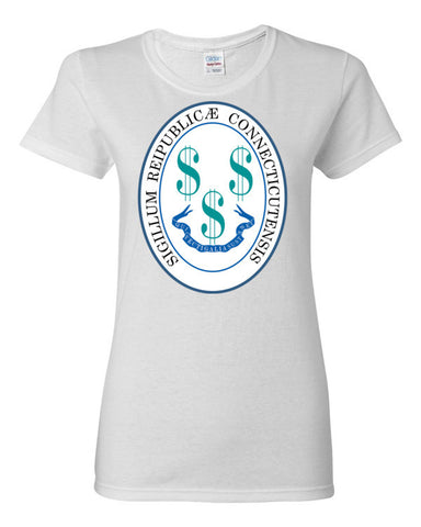 $tate Seal of Connecticut Women's short sleeve t-shirt,Women's T-Shirts, Alliteration Apparel Clothing and Accessories