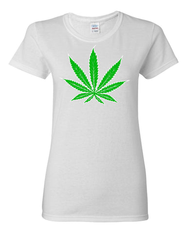 Cannabis Leaf Women's T-shirt,Women's T-Shirts, Alliteration Apparel Clothing and Accessories