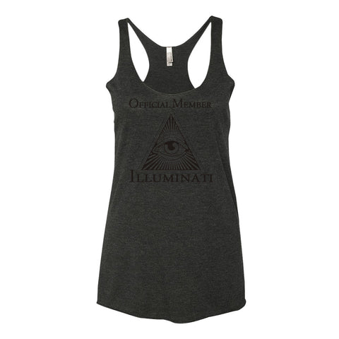 Illuminati Official Member Women's tank top,Women's tank top, Alliteration Apparel Clothing and Accessories