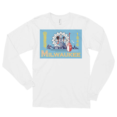 Milwaukee Flag Shot Unisex Long sleeve t-shirt,Long Sleeve, Alliteration Apparel Clothing and Accessories