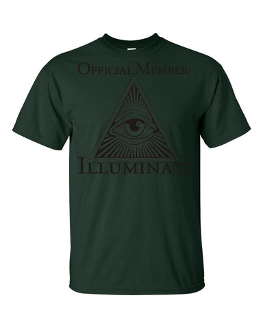 Illuminati Official Member  Men's Unisex T-shirt,Men's / Unisex T-Shirts, Alliteration Apparel Clothing and Accessories