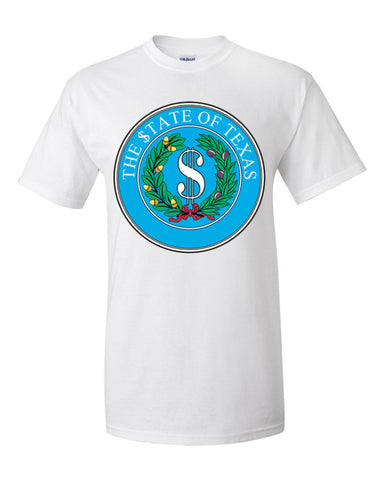 $tate Seal of Texas Men's Unisex Short sleeve t-shirt,Men's / Unisex T-Shirts, Alliteration Apparel Clothing and Accessories