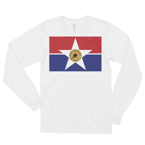 Dallas Flag Shot Unisex Long sleeve t-shirt,Long Sleeve, Alliteration Apparel Clothing and Accessories