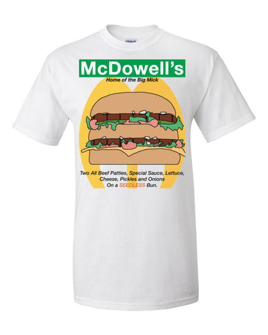 McDowells Home of The Big Mick Men's / Unisex T-shirt (Coming to America),Men's / Unisex T-Shirts, Alliteration Apparel Clothing and Accessories