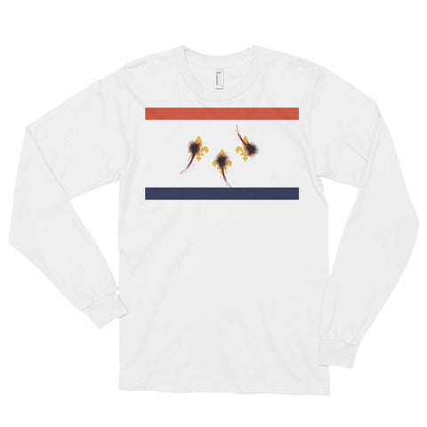 New Orleans Flag Shot Unisex Long sleeve t-shirt,Long Sleeve, Alliteration Apparel Clothing and Accessories