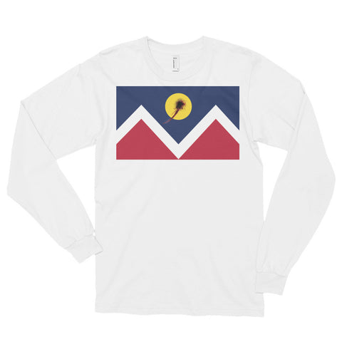 Denver Flag Shot Unisex Long sleeve t-shirt,Long Sleeve, Alliteration Apparel Clothing and Accessories