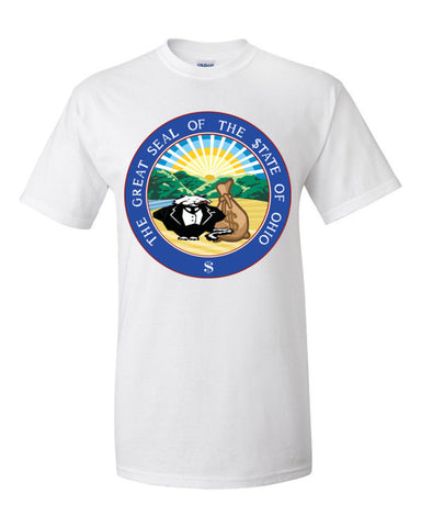 $tate Seal of Ohio Men's Unisex Short sleeve t-shirt,Men's / Unisex T-Shirts, Alliteration Apparel Clothing and Accessories