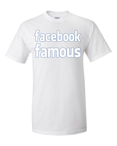 Facebook Famous Old Logo Syle Men's Unisex Short sleeve t-shirt,Men's / Unisex T-Shirts, Alliteration Apparel Clothing and Accessories