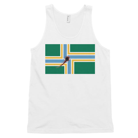 Portland Flag Shot Men's / Unisex tank top,Men's / Unisex Tank Top, Alliteration Apparel Clothing and Accessories