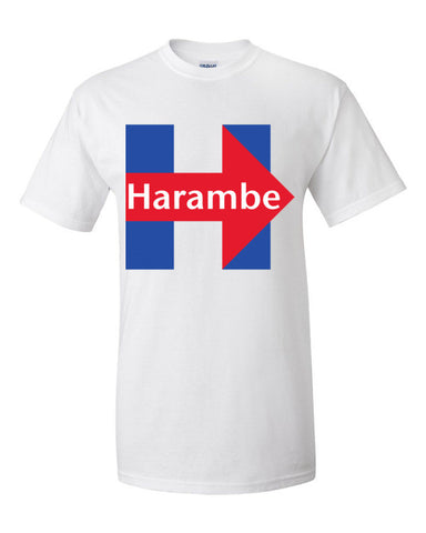 Harambe Hillary Clinton Logo Parody Men's Unisex T-shirt,Men's / Unisex T-Shirts, Alliteration Apparel Clothing and Accessories