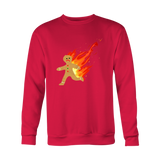 Burning Gingerbread Man Holiday Sweatshirt,Sweatshirt / Sweaters, Alliteration Apparel Clothing and Accessories