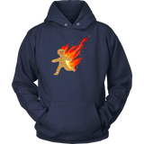 Burning Gingerbread Man Hoodie,Hoodie, Alliteration Apparel Clothing and Accessories