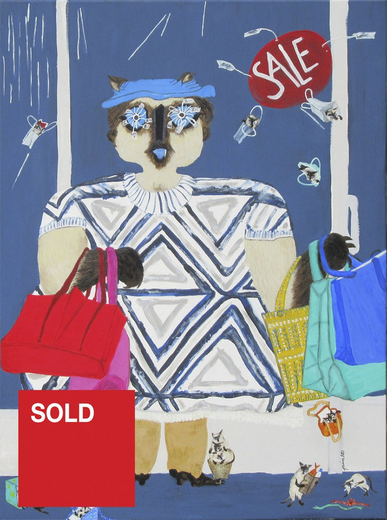 Mrs Dalrymple likes to Shop (Scandi fun with a Siamese cat)