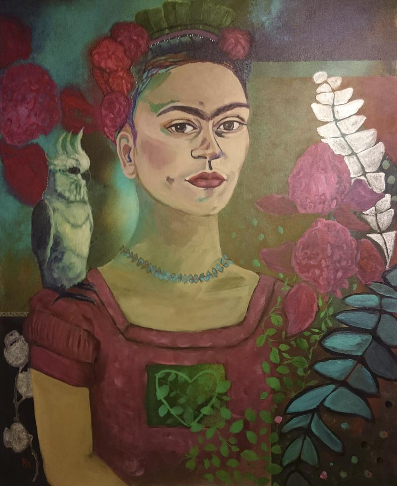 Frida with Australian Fauna and Flora