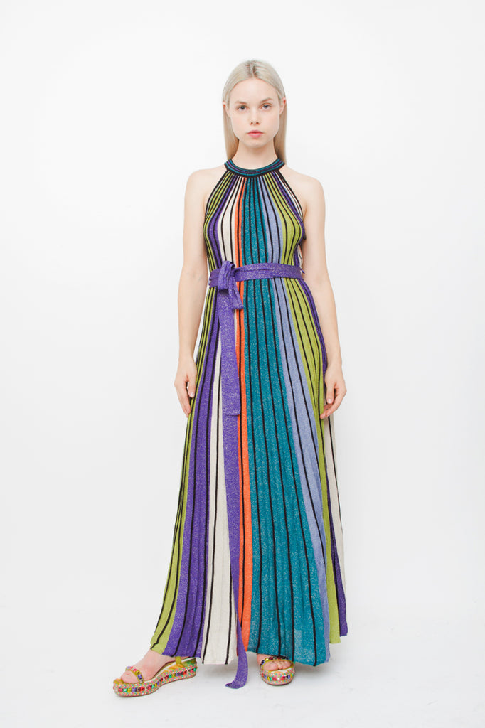 ACCORDION MAXI DRESS WITH TAGS